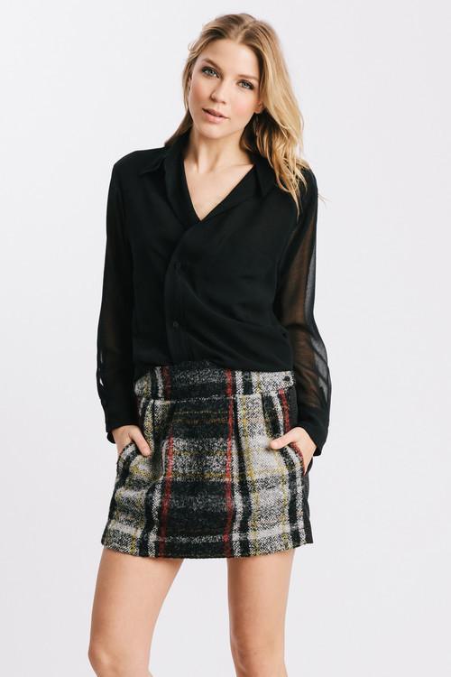 Karen Zambos Red Plaid Smith Skirt