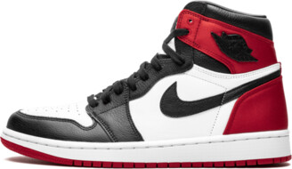 Nike Womens Air Jordan 1 High OG 'Satin Black Toe' Shoes - Size 5W