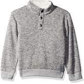 Crazy 8 Toddler Boys' Long Sleeve Mock Button Pullover