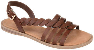 Journee Collection Womens Solay Ankle Strap Flat Sandals