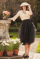 Shabby Apple Bloom Skirt Black
