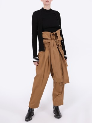 Natasha Zinko Tied Sleeves Waist Cargo Trousers