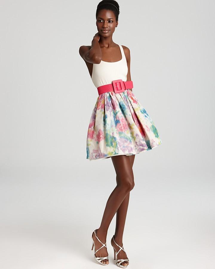 Alice + Olivia Dress - Omega Flare Puff Belted