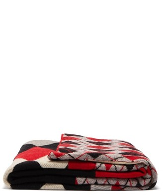 Preen by Thornton Bregazzi Quincy Panelled Wool-blend Blanket - Multi