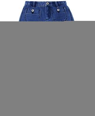 Burberry Blue Cotton-linen Blend Logo Print Jeans