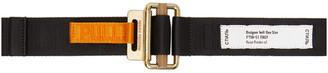 Heron Preston Black and Orange Tape Belt