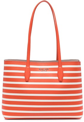 Kate Spade Striped Leather Tote Bag