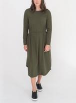 Beaumont Organic JENNA Organic Cotton Khaki Jersey Dress