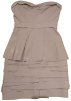 BCBGMAXAZRIA Beige Wool Dress