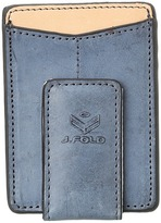 J.fold Thunderbird Magnetic Front Pocket Wallet (Slate Blue) - Bags and Luggage
