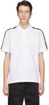 Givenchy White Logo Tape Polo