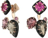 Alexis Bittar Custom Gemstone Stud w/ Removable Ear Jacket Earrings