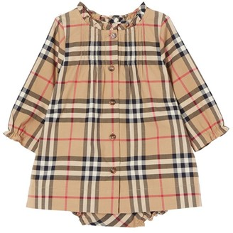 Burberry Kids Vintage Check Dress and Bloomers Set (1-18 Months)