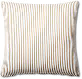 French Laundry Home Ticking 20x20 Cotton Pillow - Brown