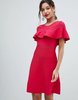 Morgan Bodycon Dress With Frill Overlay