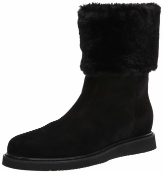 Aquatalia Women's Carlin Suede/Faux Fur Ankle Boot