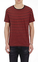 R 13 Men's Striped Jersey T-Shirt-RED