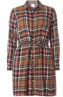 Dorothy Perkins Womens **Only Check Shirt Dress- Black