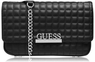 GUESS Fold Over Quilted Cross Body Bag