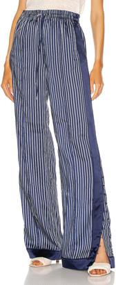 Jonathan Simkhai Miriam Track Pant in Midnight Stripe | FWRD