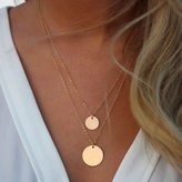 TONSEE Infinity Charm Simple Double Layers Chain Sequins Pendant Necklace