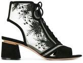 Nicholas Kirkwood 55mm 'Phoenix' lace-up booties - women - Leather/Suede/Kid Leather - 35