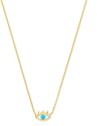 Kendra Scott Adena 14k Yellow Gold Pendant Necklace in Turquoise