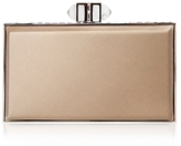 Champagne Satin Rectangle Clutch