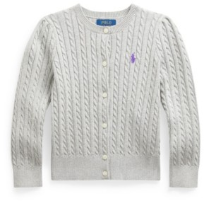 Polo Ralph Lauren Toddler Girl Cable-Knit Cotton Cardigan