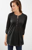 J. Jill Knit Tab-Sleeve Top