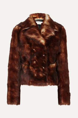 Chloé Leather-trimmed Shearling Jacket - Brown