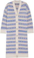 Stella McCartney Fair Isle Oversized Wool Cardigan - Blue