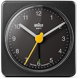 Braun Classic Square Travel Alarm Clock BNC002BK - Black