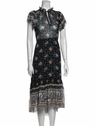 Ulla Johnson Silk Long Dress Blue