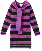 Pink Angel Pink Twist Stripe Sweater Dress & Scarf - Girls