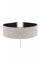 Quiz Silver Iredescent Diamante Choker