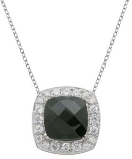 Lord & Taylor Sterling Silver Multifaceted Pendant & Necklace