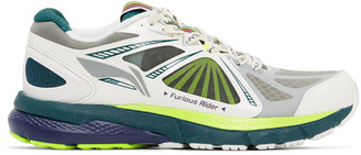 Li-Ning White and Green Furious Rider Ace 3 Sneakers