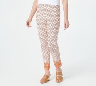Isaac Mizrahi Live! Regular 24/7 Paisley Border-Printed Ankle Pants