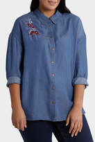Shirt denim with Embroidery