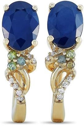 Non Branded Lb Exclusive 14K 1.87 Ct. Tw. Diamond & Sapphire Earrings