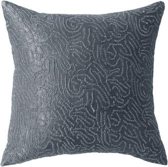 Donna Karan Current Metallic Sashiko Accent Pillow