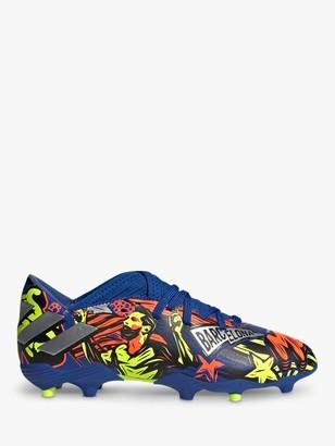 adidas Children's Nemeziz Messi 19.3 Firm Ground Football Boots, Royal Blue/Silver Metallic/Solar Yellow