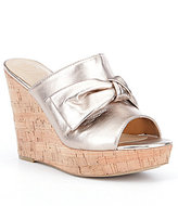 GUESS Hot Love Bow Wedge Sandals