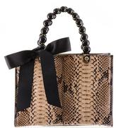 Black Coffee and Latte Python Shoulder Bag