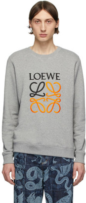 Loewe Grey Embroidered Sweatshirt