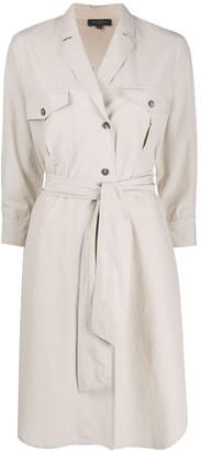 Antonelli Tie-Waist Shirt Dress