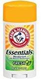 Arm & Hammer Essentials Deodorant, Fresh, 2.5 Oz/pack, 4 pack