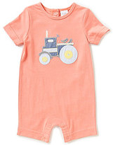 Starting Out Baby Boys Newborn-9 Months Tractor-Applique Shortall