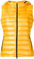 Herno zipped hooded gilet - women - Feather Down/Polyamide/Spandex/Elastane - 40